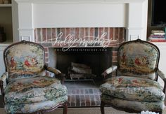 Love the toile chairs | Holly Mathis Interiors