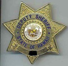 Hawaii State Sheriffs Badge