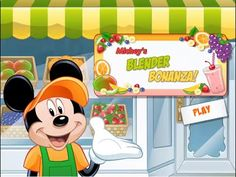 Mickey Mouse Cooking Games - Mickey's Blender Bonanza - Mickey Mouse Smoothie Maker