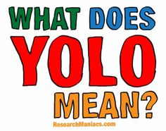 What does Yolo mean?