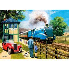 London North Eastern Railway Co. - Mallard Train - Metal Sign by The Original Metal Signs Train Posters, Railway Posters, Jigsaw Puzzles Uk, Mallard Train, Train Art, British Rail, Steam Locomotive, Train Tracks, Vintage Travel Posters