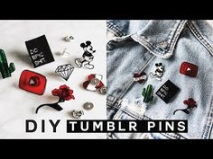 DIY TUMBLR PINS - Minimal, Easy & SUPER Affordable! - YouTube