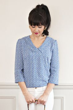 The Susie blouse by Sew Over it read more about this sewing pattern and read reviews here More