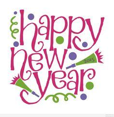Happy new year wish art 2015