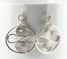 Sterling Silver Filled Hoop Earrings by HeronBleuBijoux on Etsy, $30.00