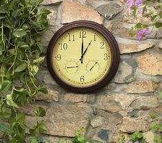3-in-1 Outdoor Clock w/ Thermometer and Hygrometer