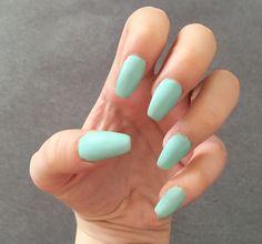 #matt #mint #nailart #kendall #jenner #nails #inspiration