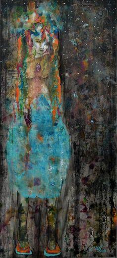 akryl na plátno.......jestli se vám libí tak tady je více mé tvorby www.mls-art.cz
