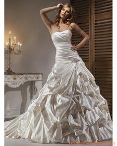 2013 Brautkleid aus Satin schulterfreier Ausschnitt mit asymmetrischem gerafftem Korsett und A-Linie Rock