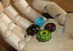 Some more lampwork beads from my first workshop with Paya Van Dyck