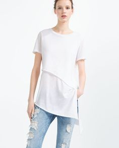 ZARA - WOMAN - ASYMMETRIC T-SHIRT