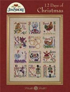 12 Days Of Christmas Cross Stitch Pattern (JSP005) Embroidery Patterns by Jim Shore Publications