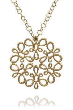 Carla Amorim 18kyg Scroll Pendant | Oster Jewelers