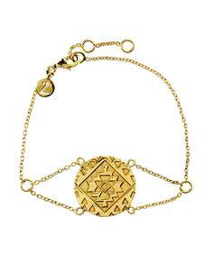 Cassius Coin Bracelet   Gold   Accessorize