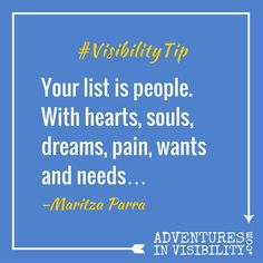 How to Build Your List with Purpose for Profit – Adventures in Visibility with Maritza Parra