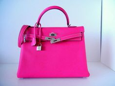 Hermes Kelly 35 Supple Bag Limited Edition Candy Rose Tyrien 2 tone