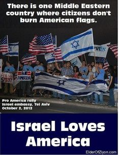 The American people love Israel! Our government no longer represents the American people.