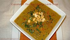 A New York Foodie: Coconut & Thai Red Curry Lentil Soup