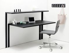 Really Practical Working Desk And Shelving System For Tight Spaces | DigsDigs