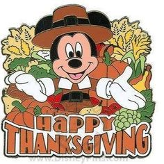 Micky Mouse - Happy Thanksgiving Thanksgiving Cartoon, Happy Thanksgiving Images, Thanksgiving Wishes, Thanksgiving Wallpaper, Thanksgiving Ideas, Thanksgiving Verses, Thanksgiving Drawings, Thanksgiving Graphics, Disney Trading Pins