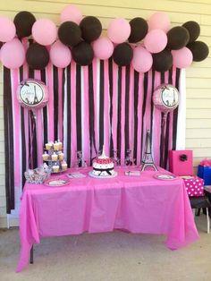 Parisian party white pink black party
