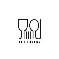 The Eatery Restaurant logo by graphic designer @andreirobu