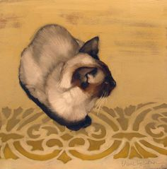 Siamese Print featuring the painting Gadjo by Diane Hoeptner