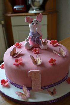 by The Cakechaser Cake Decorating Tutorials, Cookie Decorating, Gorgeous Cakes, Amazing Cakes, Piglet Cake, First Birthday Cakes, Birthday Bash, Birthday Ideas, Winnie The Pooh Cake