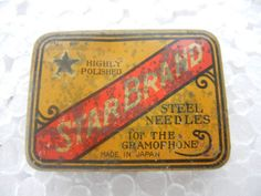 """Vintage Star Brand Gramophone Needle Tin Box From Japan   Vintage Decoration!! Get it delivered to your door step  Just visit: Singhalexportsjodhpur.COM and search for """"4885"""" in the search box  FREE SHIPPING!!! INDIAN DECOR INDUSTRIAL DECOR VINTAGE DECOR POP ART MOVIE POSTERS VINTAGE MEMORABILIA FRENCH REPLICA  #tinbox #tinboxes #vintagebox #onlineshopping #instashopping #shoppinggram #vintageshopping #rareitem #rareshopping #rarebuy #collectortoy #powderbox #powderboxes #tinbox #tinboxes…"""