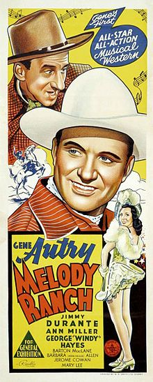 Melody Ranch. Gene Autry, Jimmy Durante, Ann Miller.  1940