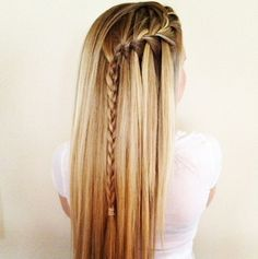 Braid mixed with super straight strands.