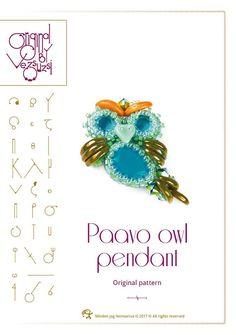 pendant tutorial / pattern Paavo the little owl  PDF