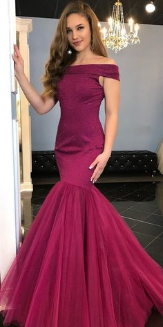 404b175e82d Mermaid Beaded Long Prom Dress with Off Shoulder Straps 2019 Custom Made  Fahion Long School Dance Dresses Sexy Mermaid Evening Party Dresses SPD063