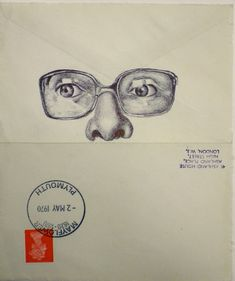 Envelope Portraits by Mark Powell Biro Drawing, Drawing Artist, Paintings Famous, Famous Artists, Biro Portrait, Mark Powell, Envelope Art, A Level Art, Gcse Art