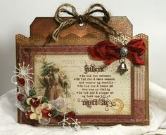 Vintage looking Christmas tag, pic 1