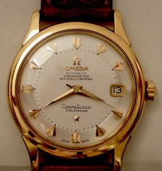 Omega Constellations Automatic Calendar Chronometer, Swiss Made. Vintage Watches For Men, Luxury Watches For Men, Vintage Rolex, Patek Philippe, Stylish Watches, Cool Watches, Gents Watches, Omega Railmaster, Expensive Watches