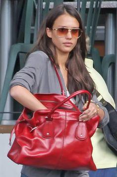 Jessica Alba.  love the bag!!