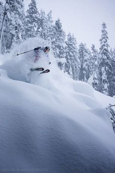 Laughing while skiing, Mason Mashon, Whistler