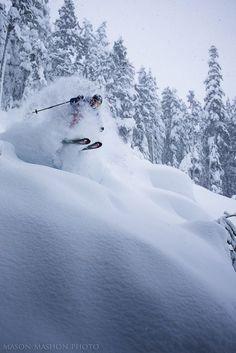 Laughing while skiing, Mason Mashon, Whistler