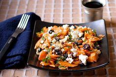 Salade de carottes, feta et raisins secs