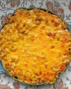 King Ranch Mac & Cheese - the best mac & cheese ever! He asked me to make it again, twice, while we were still eating it!