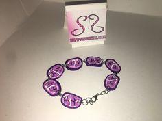 clay bracelet by AuntShanas on Etsy