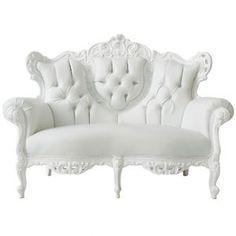 Baroque Loveseat White