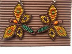 Schmetterling handgemachte Macrame Ohrringe von PapachoCreations