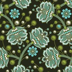 Bees Knees in Forest designed by Tula Pink for FreeSpirit Fabric as part of the Tula Pink Timeless collection