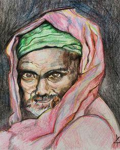 #colorpencil #sketchbook #adamamos #propheticartist Colored Pencils, Portrait, Tattoos, Artist, Colouring Pencils, Headshot Photography, Crayons, Men Portrait, Irezumi