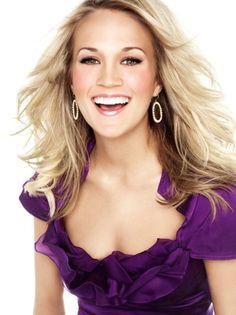 Carrie Underwood in purple.   Hot -100, 2011