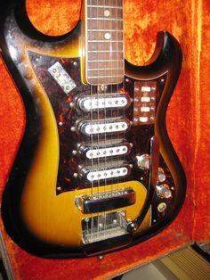 SOLD* Mid-60\'s EKO Model 500 4 Pickup Vintage Electric Guitar ...