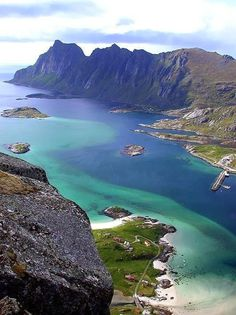 Lofoten Islands - - want to get there by the Hurtigruten ferry, then hop off the ferry on way back and drive back down through Norway Places Around The World, Oh The Places You'll Go, Places To Travel, Places To Visit, Lofoten, Vacation Destinations, Dream Vacations, Vacation Spots, Vacation Deals