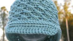 """""""Lines"""" X-Stitch Variation Hat with Bill  ~ FREE  PATTERN        Elk Studio"""